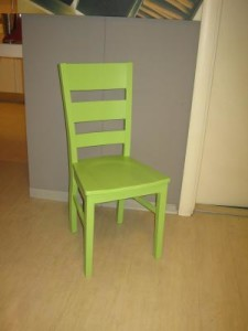 sedia colorata green