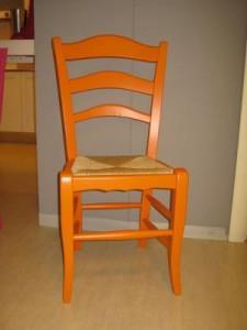 sedia colorata orange